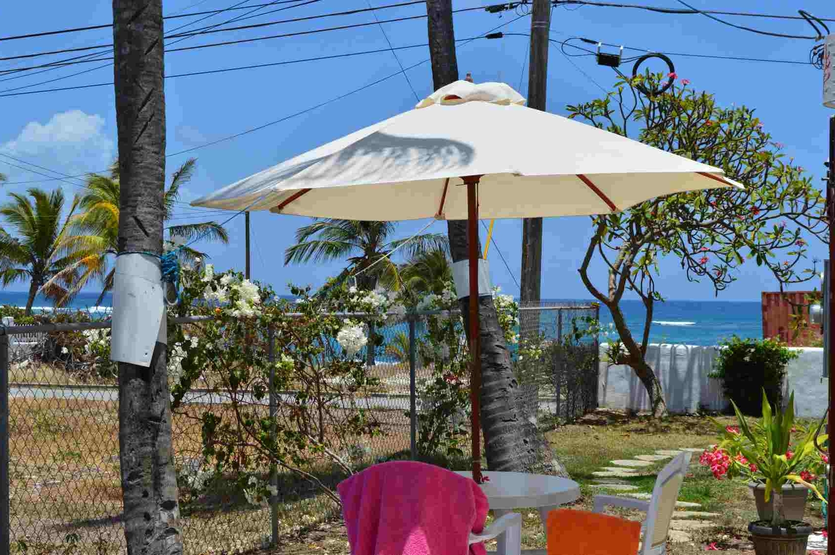 Favorite Jewel Patio Umbrellas Pertaining To Sweet Jewel – Two Palms Apartment In Barbados (Gallery 9 of 20)