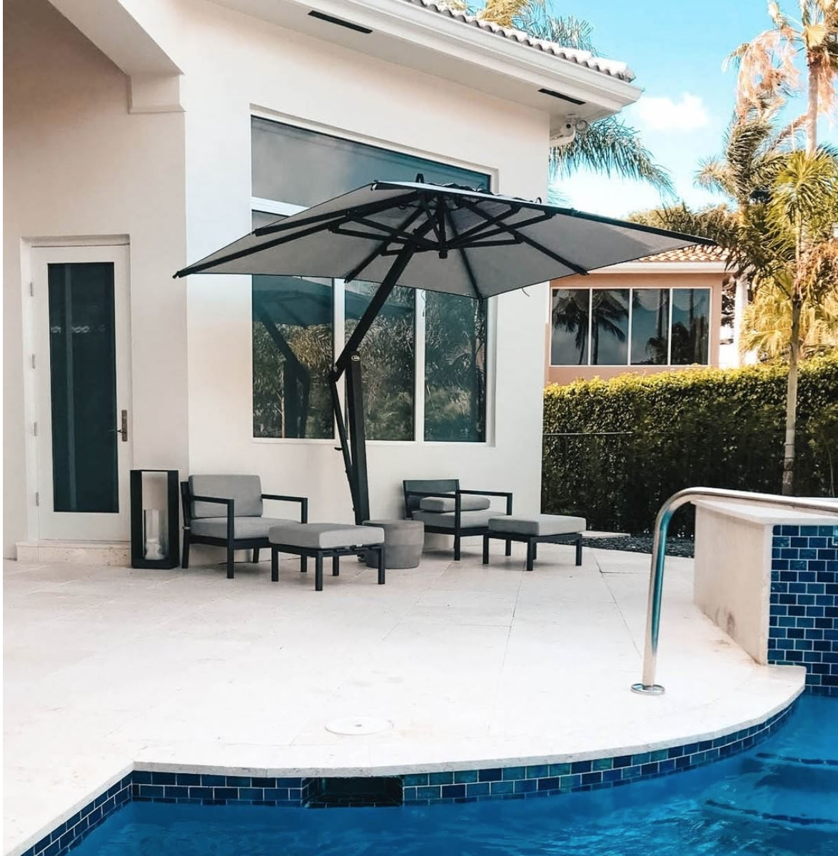 Favorite Large Patio Umbrellas With The Complete Buyers Guide For Large Patio Umbrellas – Poggesi Usa (Gallery 18 of 20)