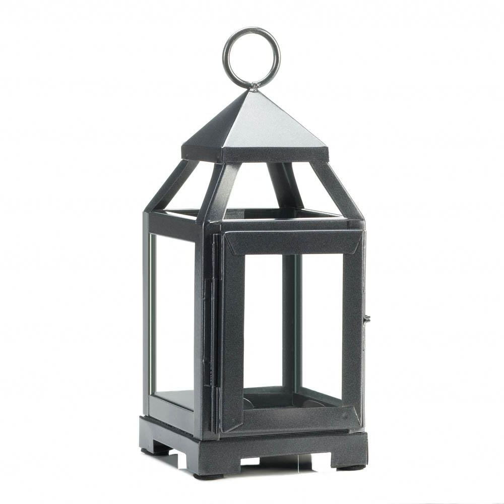 Favorite Metal Outdoor Lanterns Within Iron Lantern Candle Holder, Iron Outdoor Rustic Mini Metal Candle (Gallery 8 of 20)