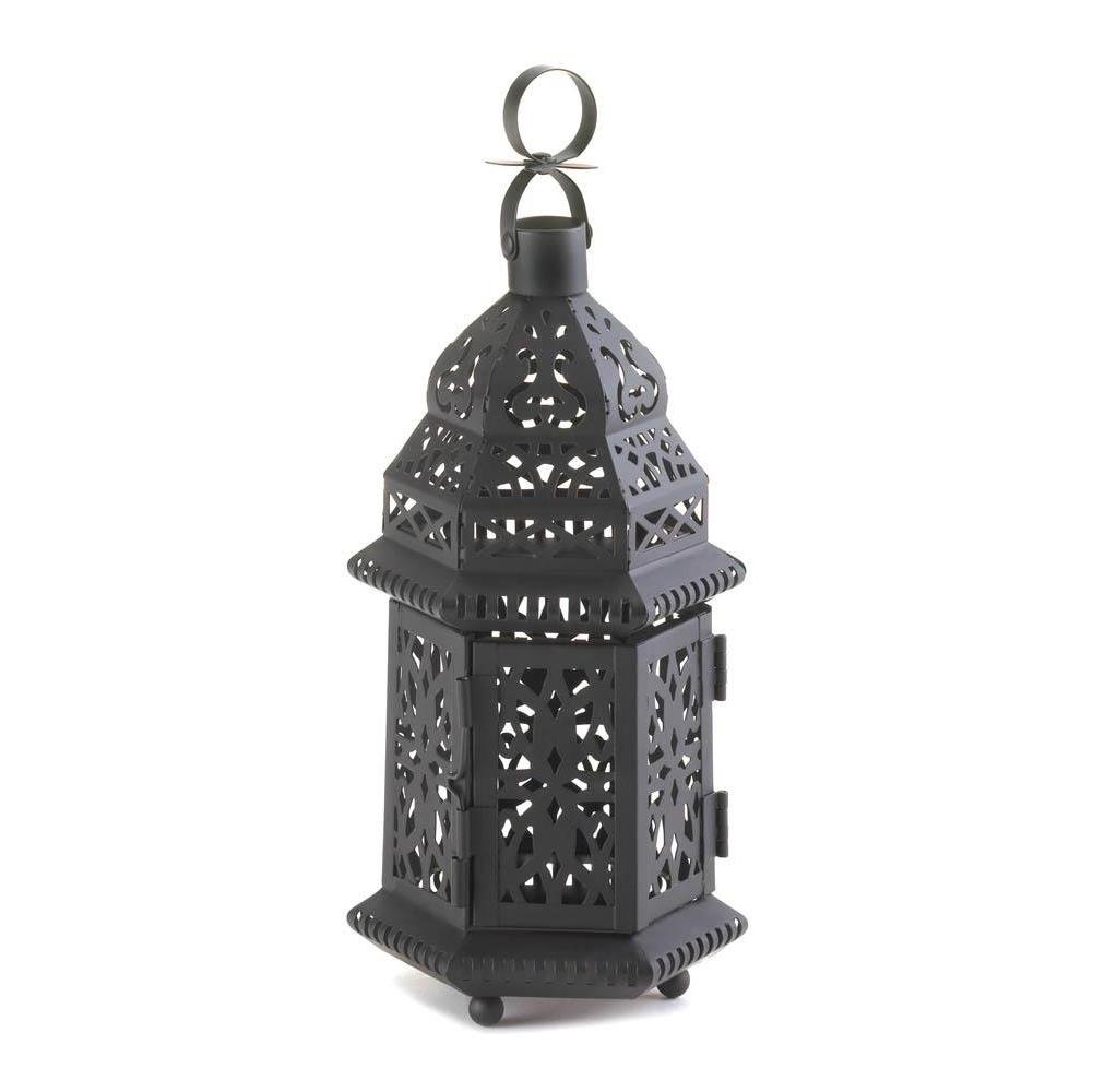Favorite Outdoor Bronze Lanterns With Outdoor Hanging Lanterns, Moroccan Metal Decorative Floor Patio (View 11 of 20)