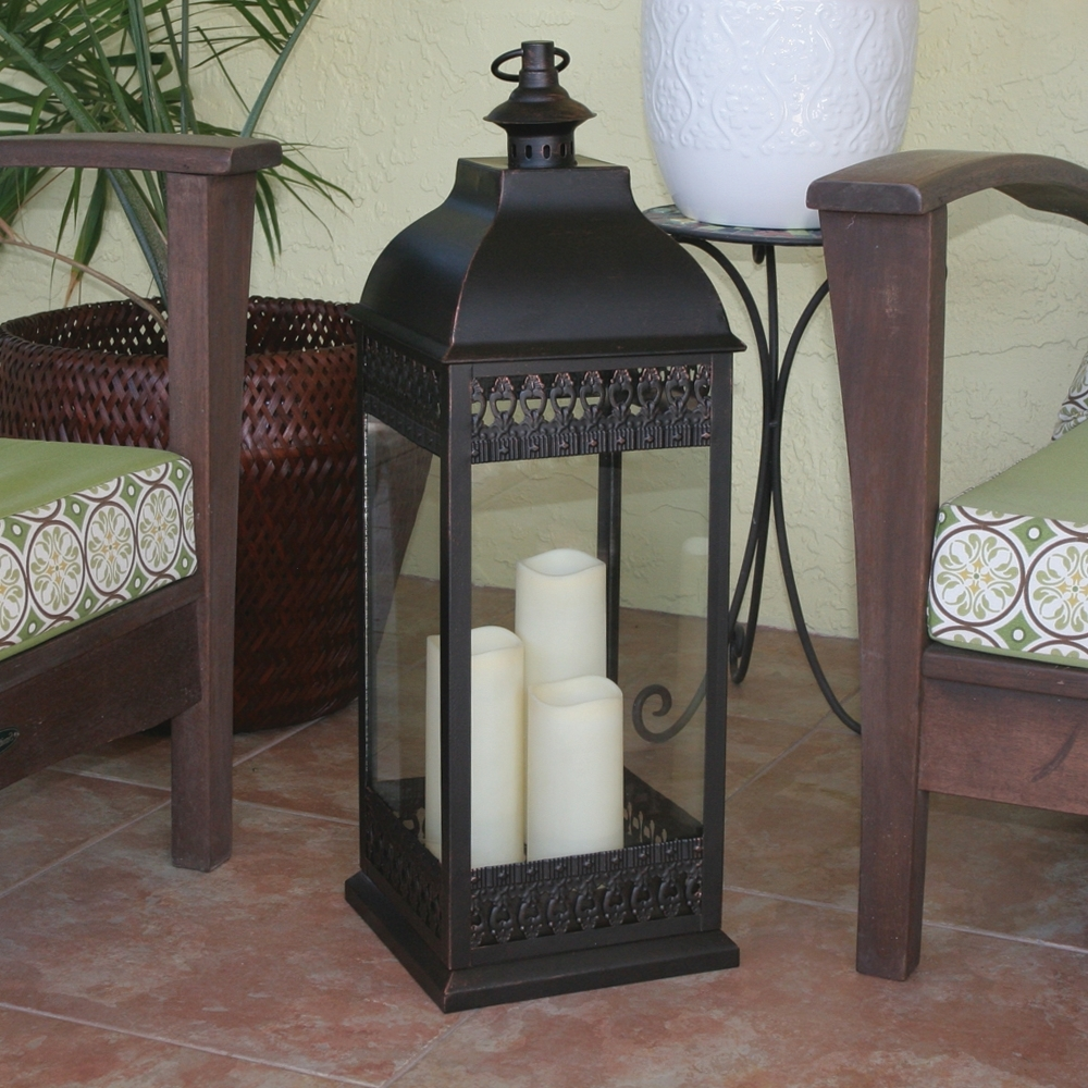 Favorite Outdoor Candle Lanterns For Patio With Outdoor Candle Lanterns Candle Lantern Back Patio Reveal Patio (View 11 of 20)