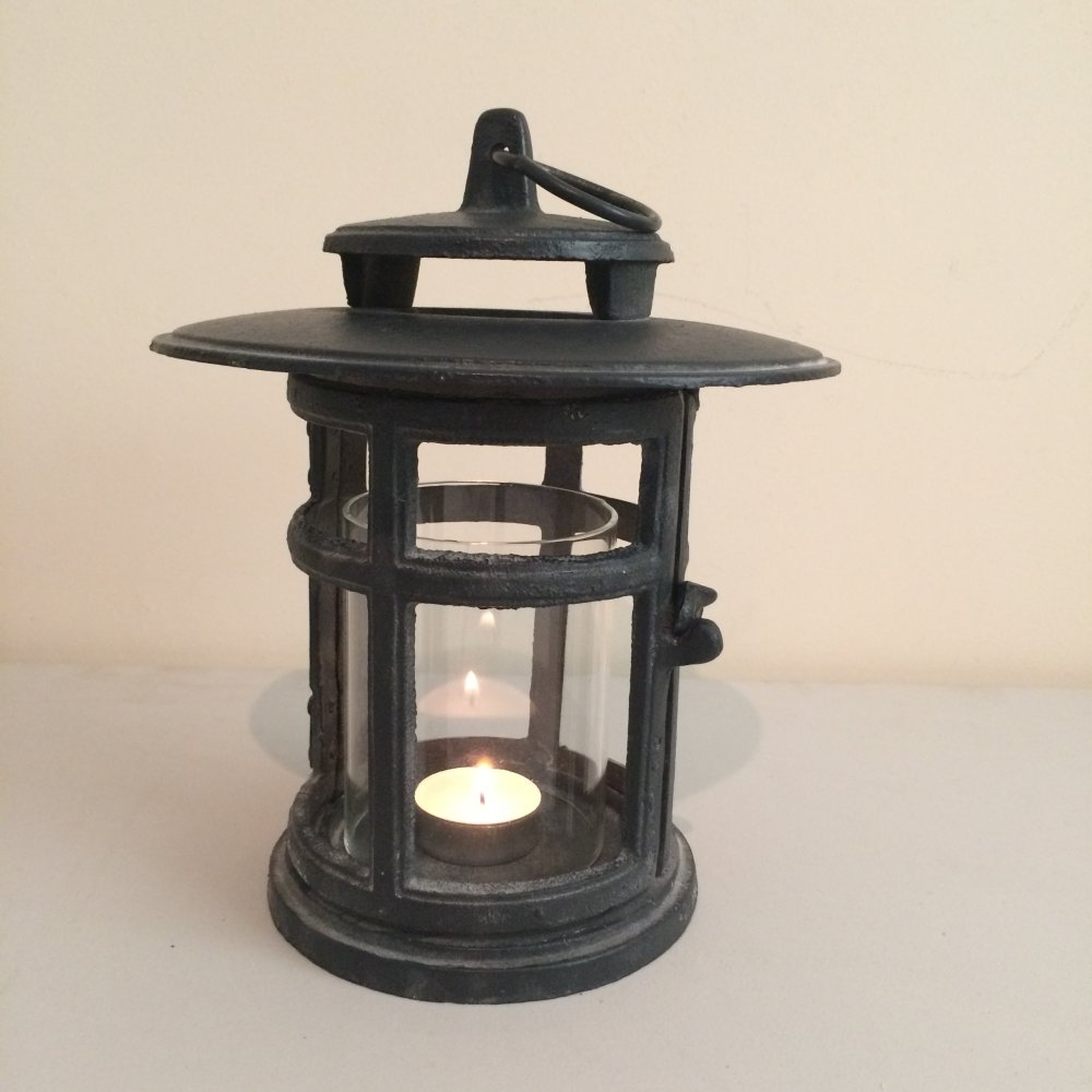 Favorite Outdoor Cast Iron Lanterns Intended For Cast Iron Japanese Style Round Lantern From Ruddick Garden Gifts (View 5 of 20)