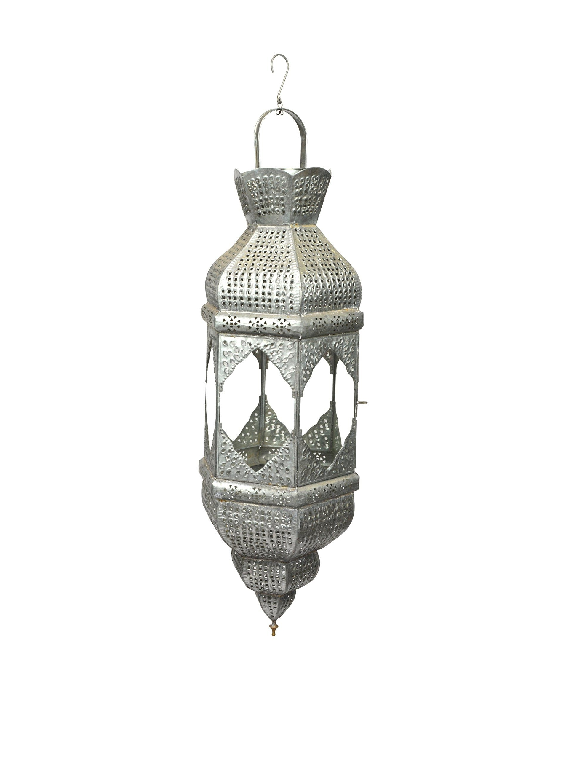 Favorite Outdoor Indian Lanterns Throughout Uptown Down Indian Lantern, Brushed Silver At Myhabit (View 3 of 20)