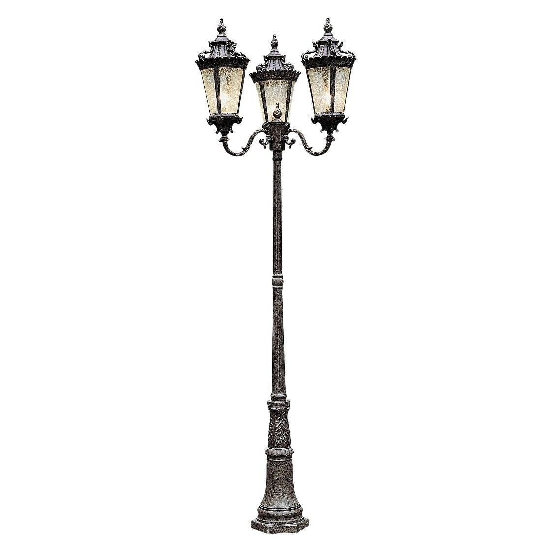 Favorite Outdoor Lamp Lanterns Pertaining To Caesar 3 Lantern Lamp Post (View 19 of 20)