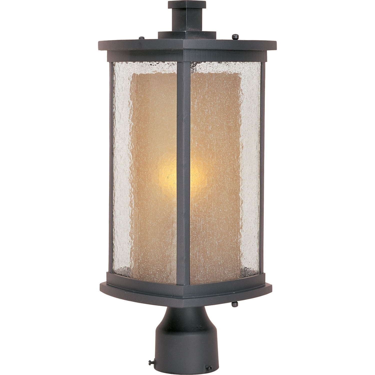 Favorite Outdoor Post Lanterns For Maxim Lighting International Bungalow Bronze One Light Outdoor Post (View 3 of 20)