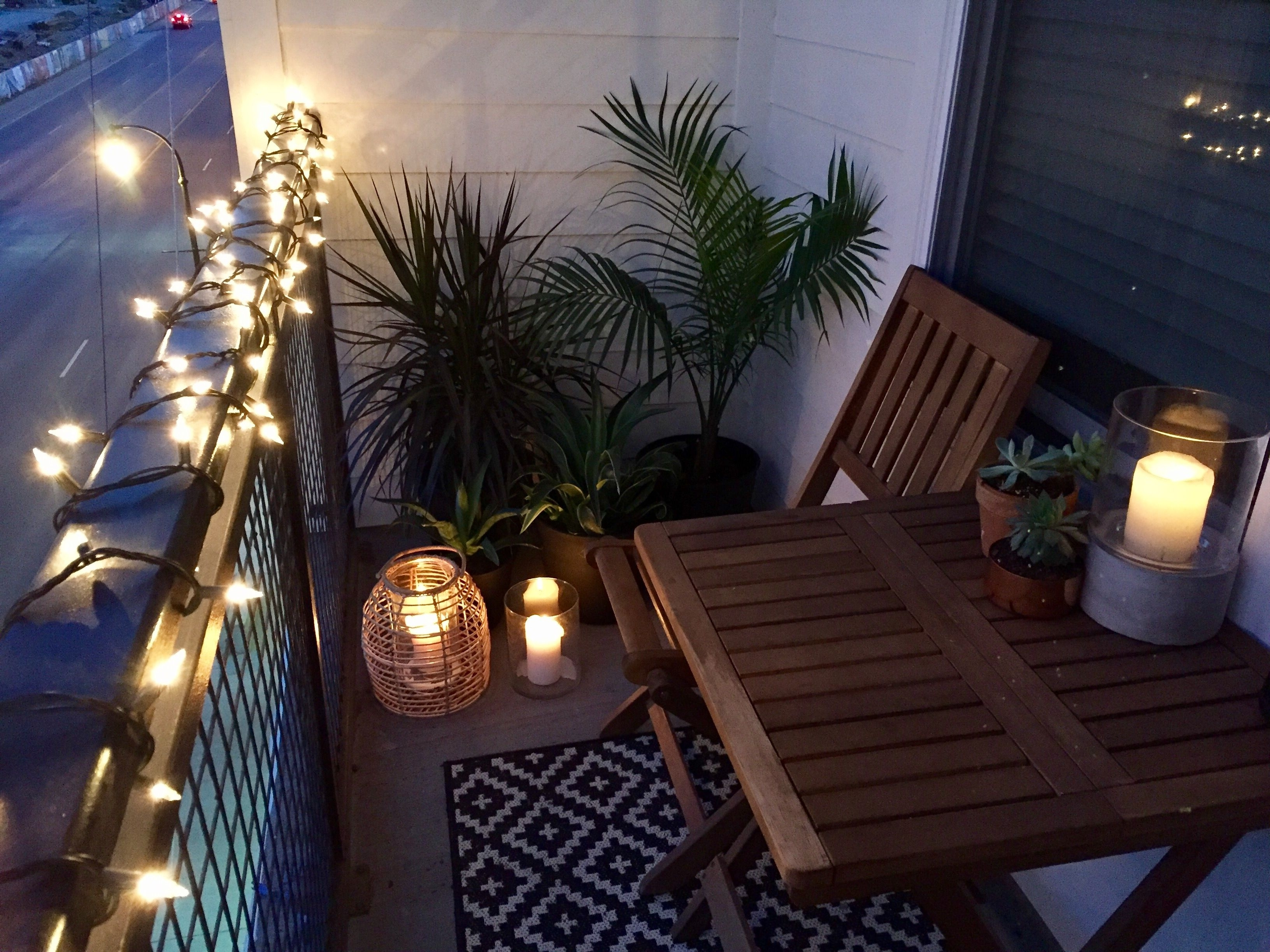 Favorite Outdoor Tropical Lanterns Regarding Small Balcony Design Ideas. Target, World Market, Home Depot (Gallery 3 of 20)