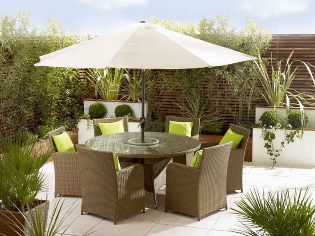 Favorite Patio Table Sets With Umbrellas In Furniture Latest Ideas For Outdoor Patio Dining Sets With Patio (View 8 of 20)