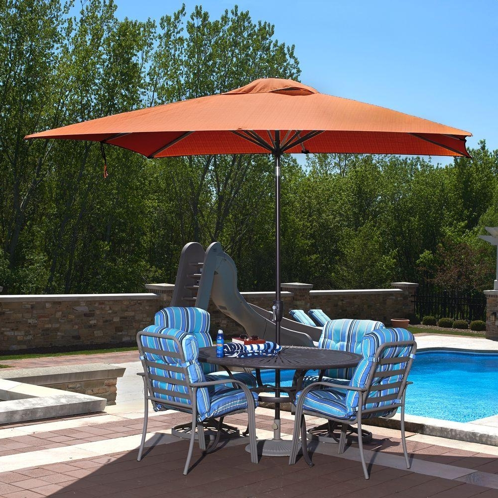 Favorite Rectangular Patio Umbrellas Intended For Island Umbrella Caspian 8 Ft. X 10 Ft. Rectangular Market Push (Gallery 1 of 20)