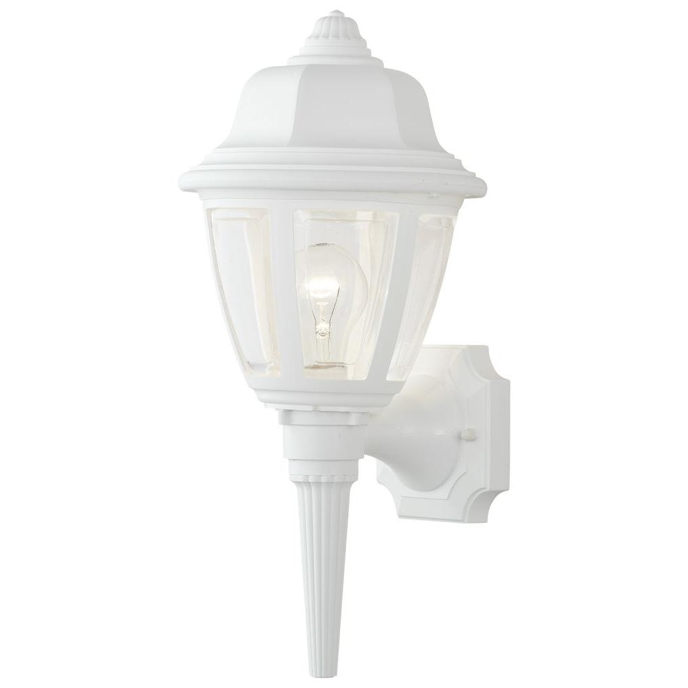 Favorite Thomas Lighting 1 Light Matte White Outdoor Wall Mount Lantern With White Outdoor Lanterns (Gallery 15 of 20)