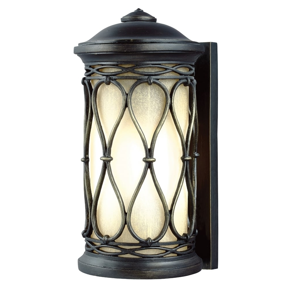 Fe/wellfleet/s Wellfleet Coastal Outdoor Wall Lantern In Aged Bronze In Fashionable Outdoor Wall Lanterns (View 4 of 20)