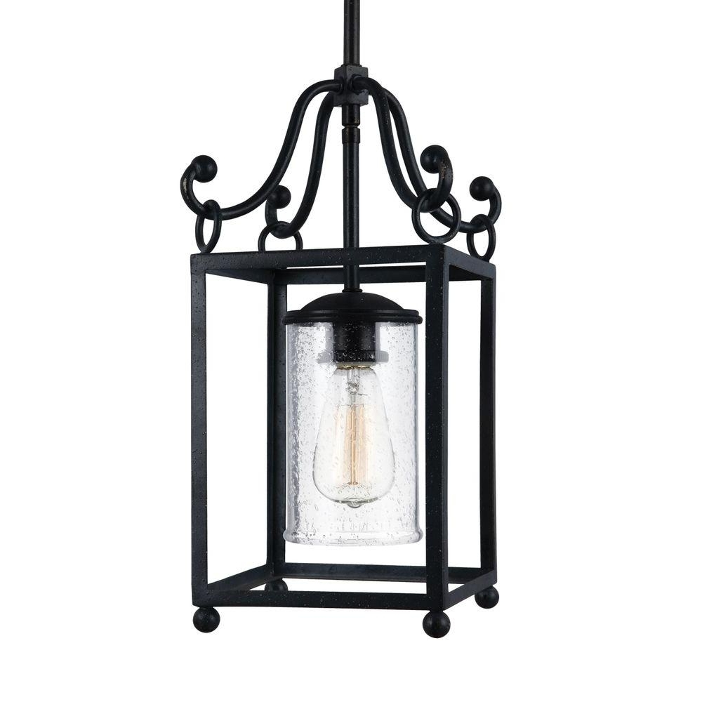 Feiss Declaration Light Antique Forged Iron Wall Sconce Pendant Within Most Popular Colorful Outdoor Lanterns (View 9 of 20)