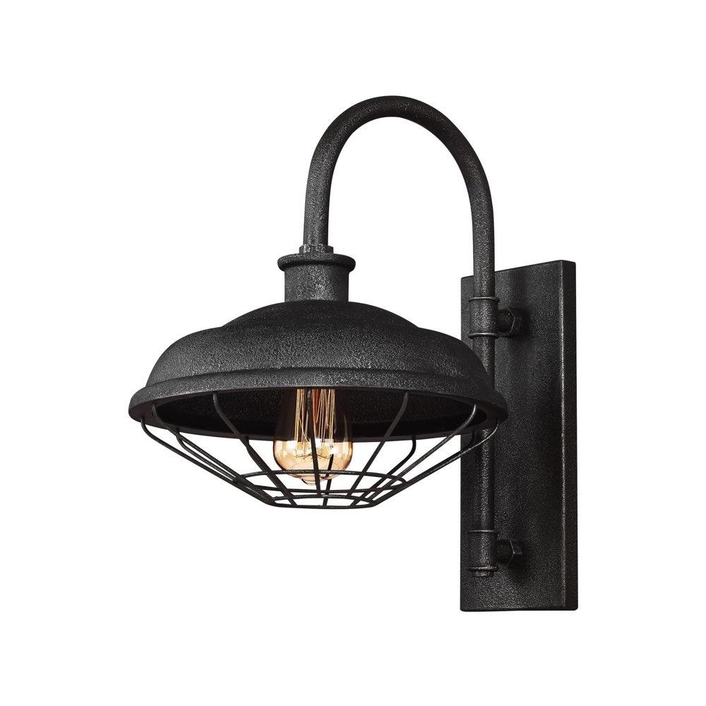 Feiss Lighting Lennex 1 – Light Indoor / Outdoor Wall Lantern In In Popular Outdoor Grey Lanterns (View 15 of 20)