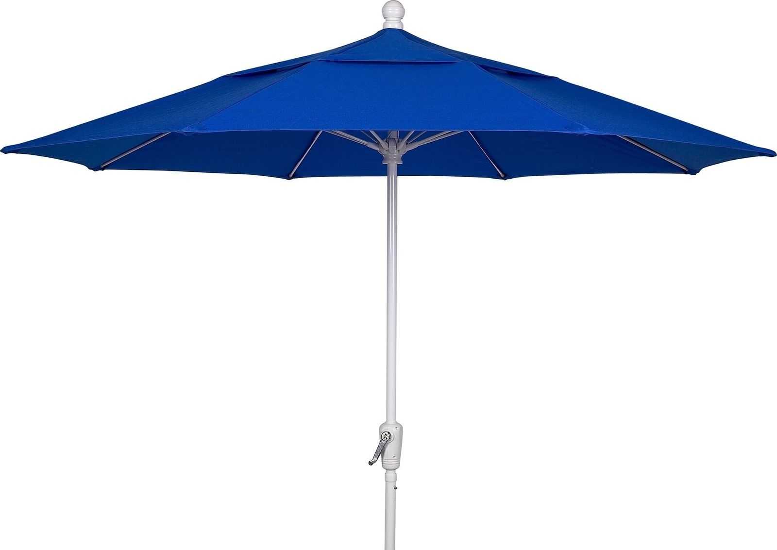 Fiberbuilt Umbrellas Patio Umbrella 7.5 Foot Pacific Blue Canopy And With Latest Patio Umbrellas With White Pole (Gallery 8 of 20)