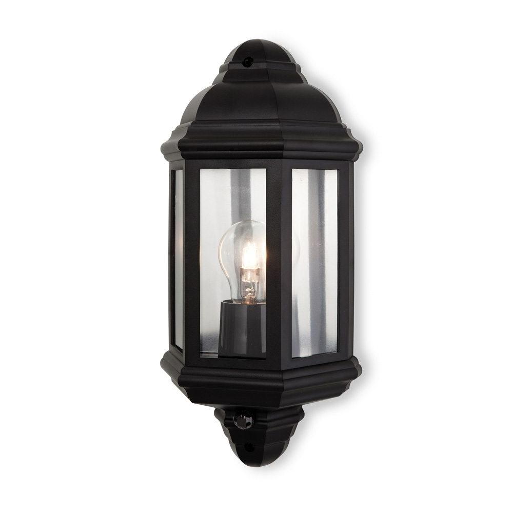 Firstlight 8656Bk Park 1 Pir Light Black Outdoor Wall Light In Current Outdoor Pir Lanterns (Gallery 19 of 20)