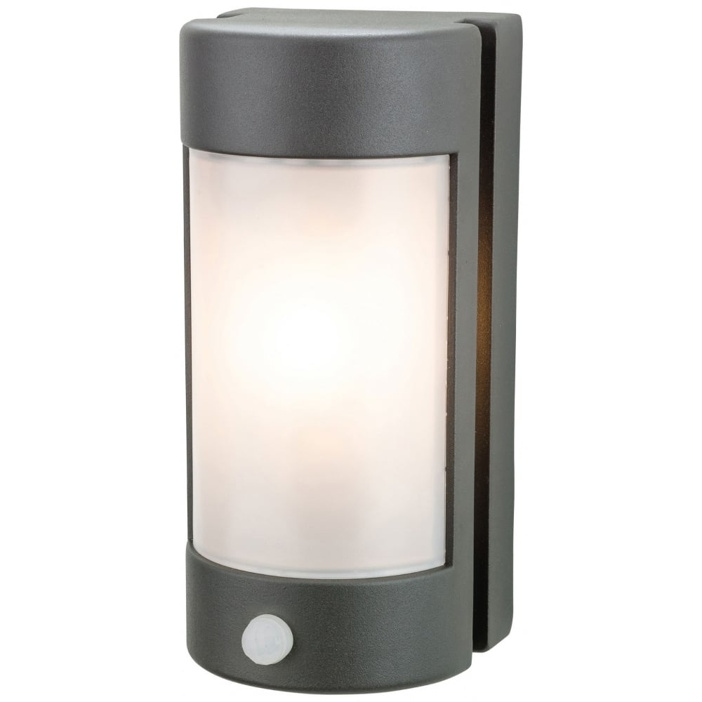 Firstlight Arena Outdoor Pir Wall Light In Graphite Finish With Opal Regarding Current Outdoor Lanterns With Pir (View 4 of 20)