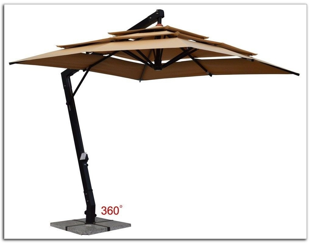 Free Standing Patio Umbrellas In Most Recently Released Freestanding Patio Umbrella For Pool Farmhouse Design And (Gallery 18 of 20)