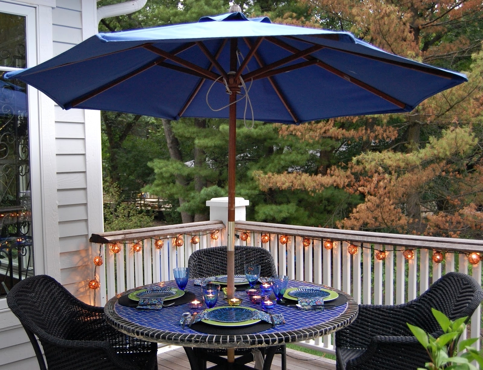 Free Standing Umbrellas For Patio With Well Known Patio Furniture Sets With Umbrella Treasure Garden Outdoor Costco (View 8 of 20)