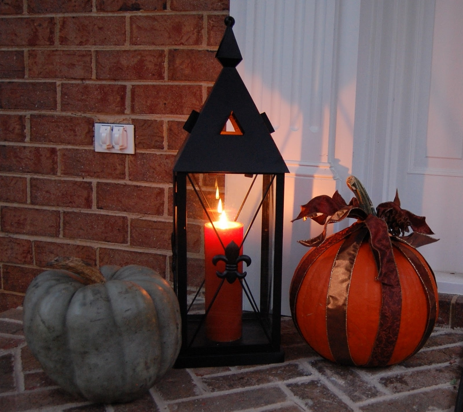 Front Porch Decorated For Halloween – Between Naps On The Porch With Recent Outdoor Halloween Lanterns (View 6 of 20)