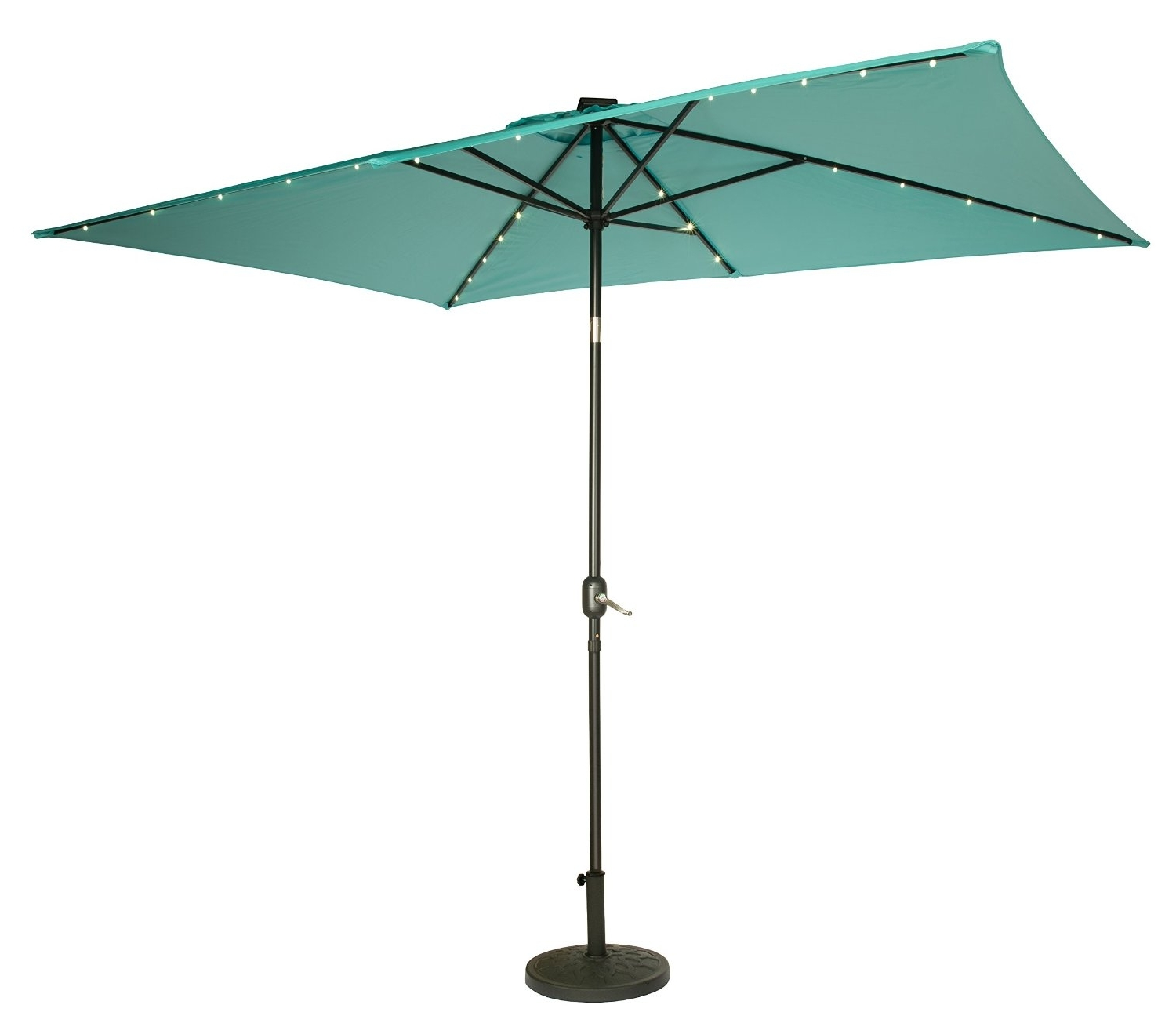 Furniture: Furniture Green Rectangular Patio Umbrella Ideas For Your With Regard To Most Recent Lowes Cantilever Patio Umbrellas (View 9 of 20)