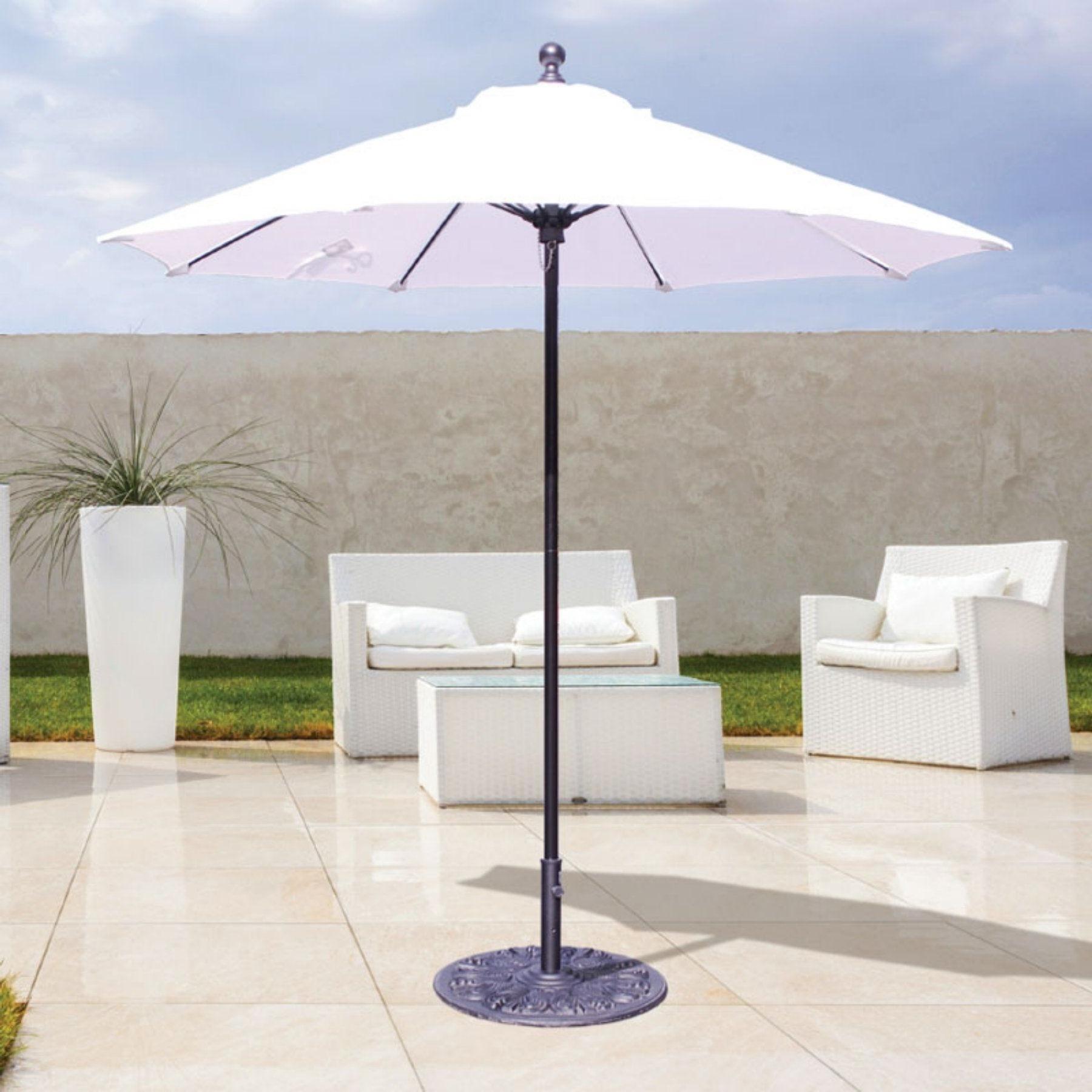 Galtech 7.5 Ft. Sunbrella Commercial Patio Umbrella – 725W 45 Regarding Popular Commercial Patio Umbrellas Sunbrella (Gallery 18 of 20)