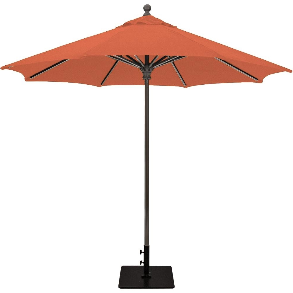 Galtech 9 Ft. Commercial Octagonal Aluminum Patio Market Umbrella W Inside 2019 Commercial Patio Umbrellas Sunbrella (Gallery 15 of 20)