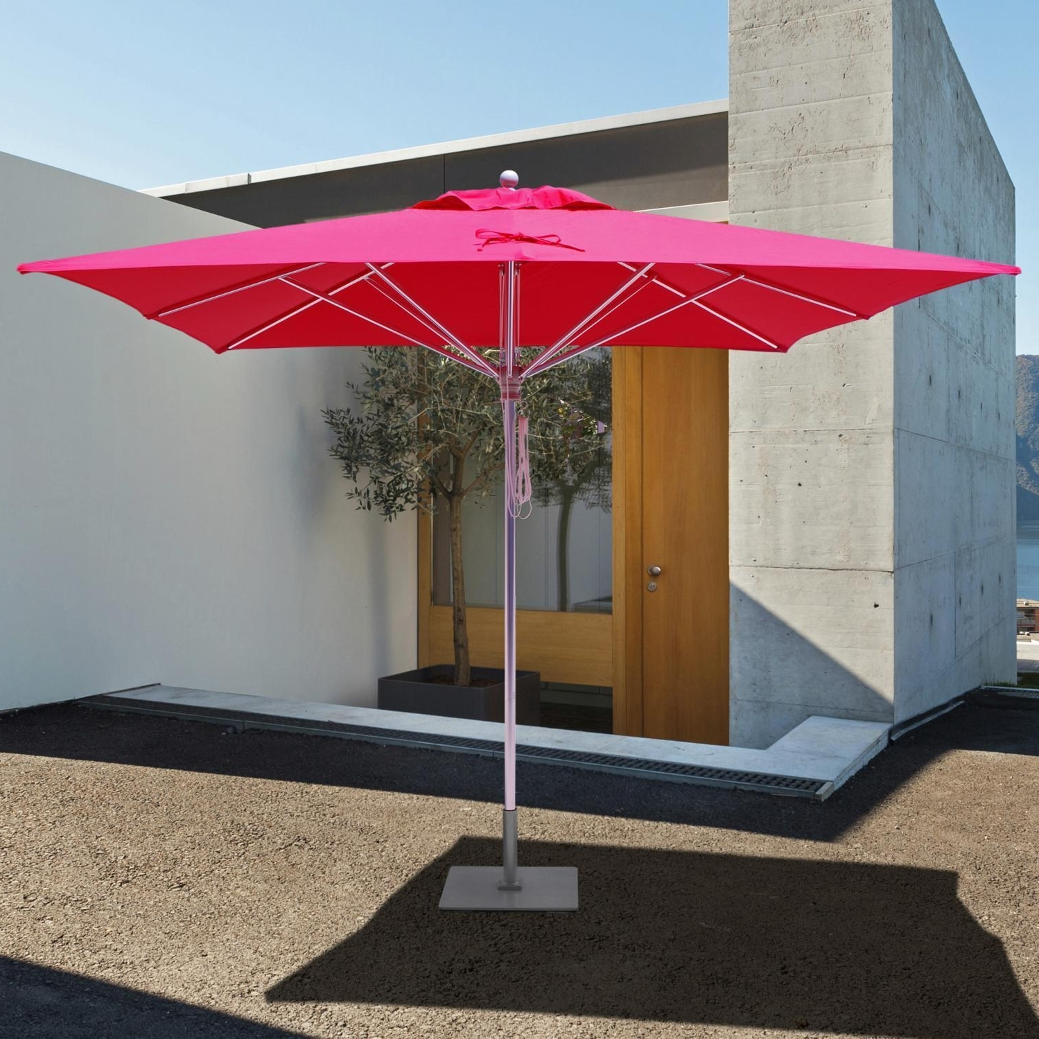 Galtech Sr Series 10 Ft Square Aluminum Commercial Patio Umbrella For Most Popular 10 Ft Patio Umbrellas (View 11 of 20)