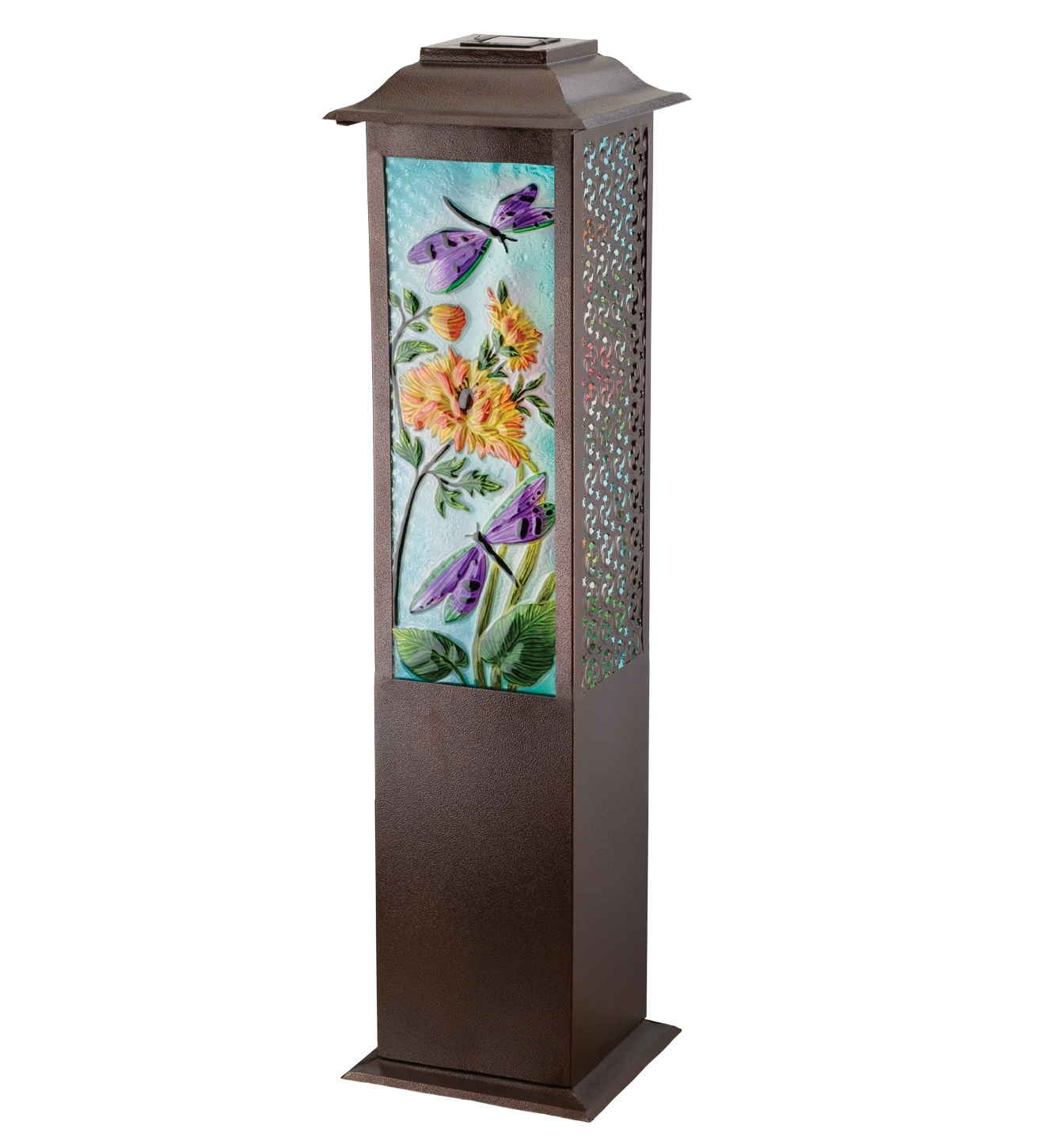 Garden Dragonfly Solar Floor Lantern – Teton Timberline Trading With Most Recent Outdoor Standing Lanterns (Gallery 14 of 20)