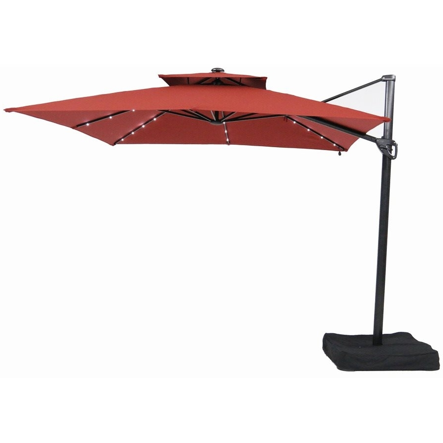 Garden Treasures 10 Ft Square Offset Umbrella With Leds, Patio Intended For Well Liked Garden Treasures Patio Umbrellas (Gallery 12 of 20)