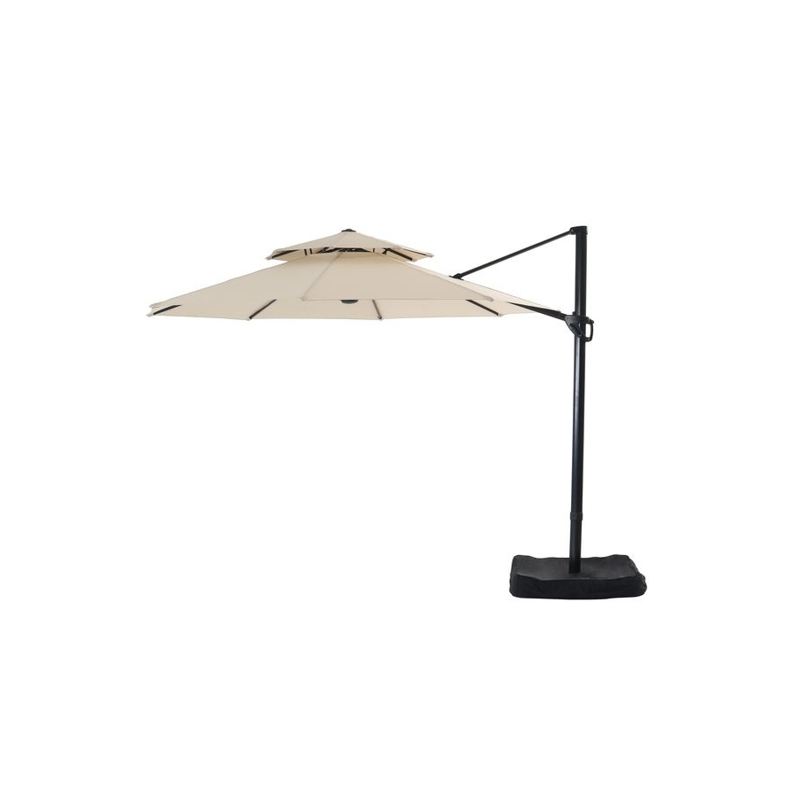 Garden Treasures Patio Umbrella (Common: 126 In W X 126 In L; Actual Intended For Well Known Garden Treasures Patio Umbrellas (Gallery 7 of 20)