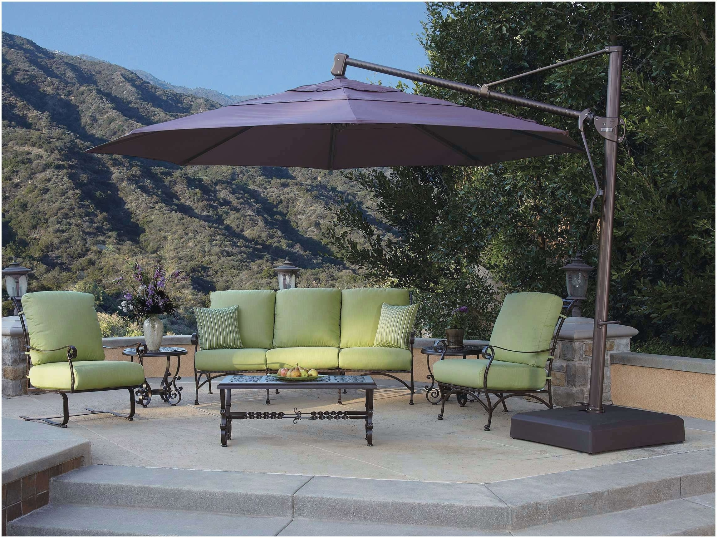 Garden Treasures Patio Umbrellas With Regard To Favorite Garden Treasures Umbrella Replacement Canopy The Right Choice Extra (Gallery 4 of 20)