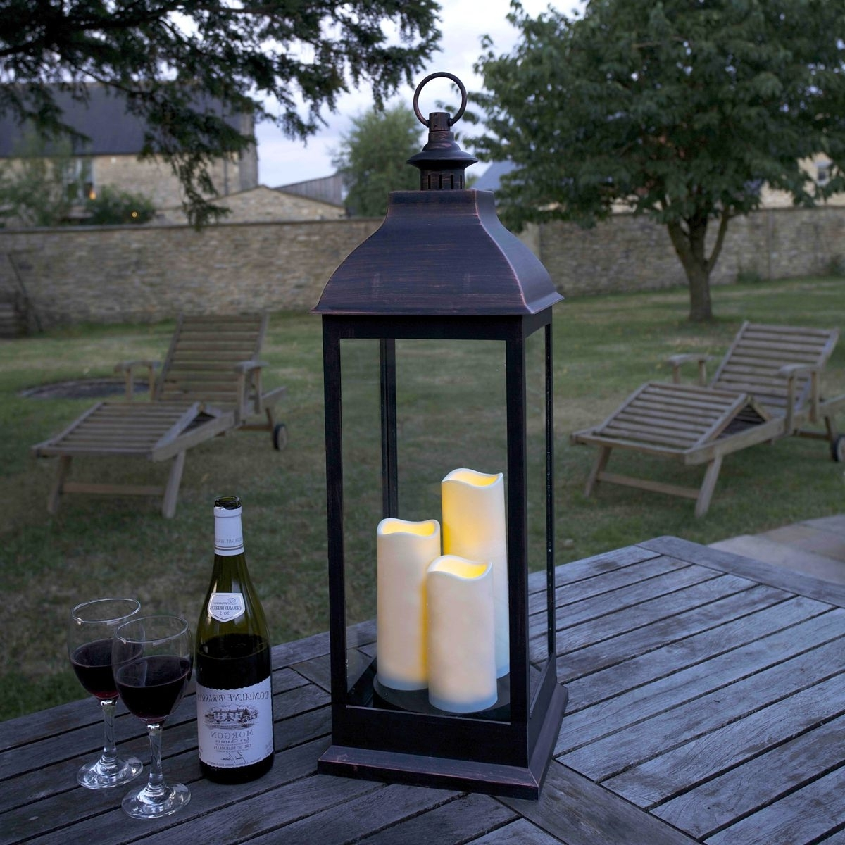 Giant Copper Look Led Lantern (Gallery 8 of 20)