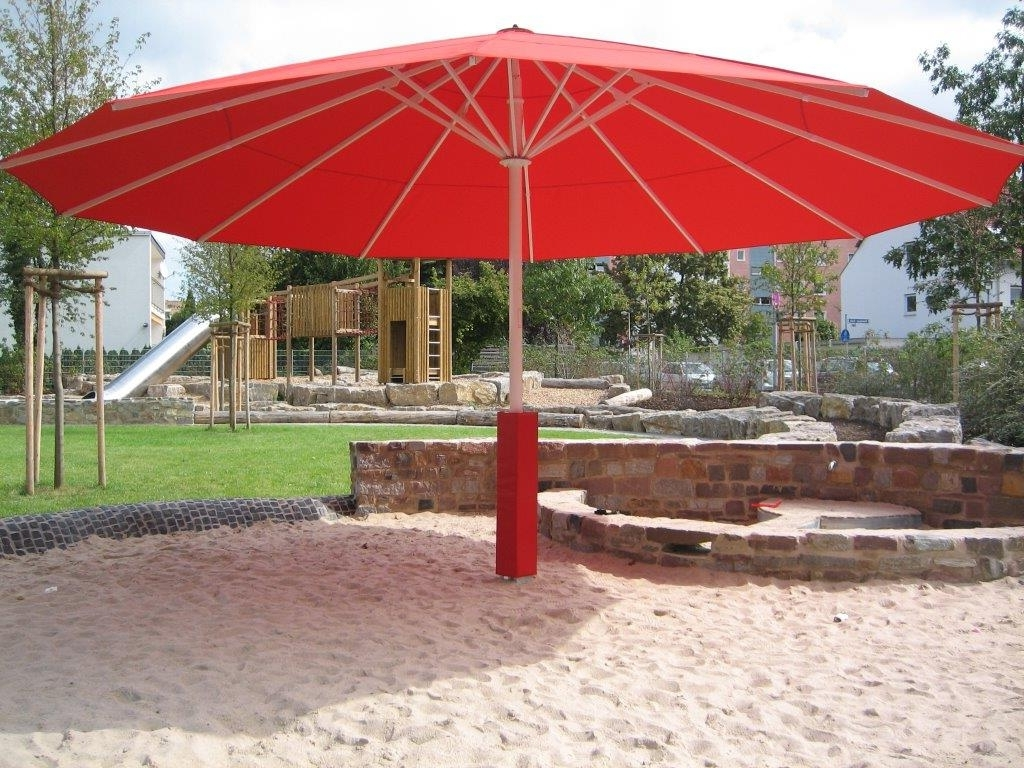 Giant Patio Umbrellas Inside Preferred Giant Patio Umbrella Idea : Kimberly Porch And Garden – The Upside (View 6 of 20)