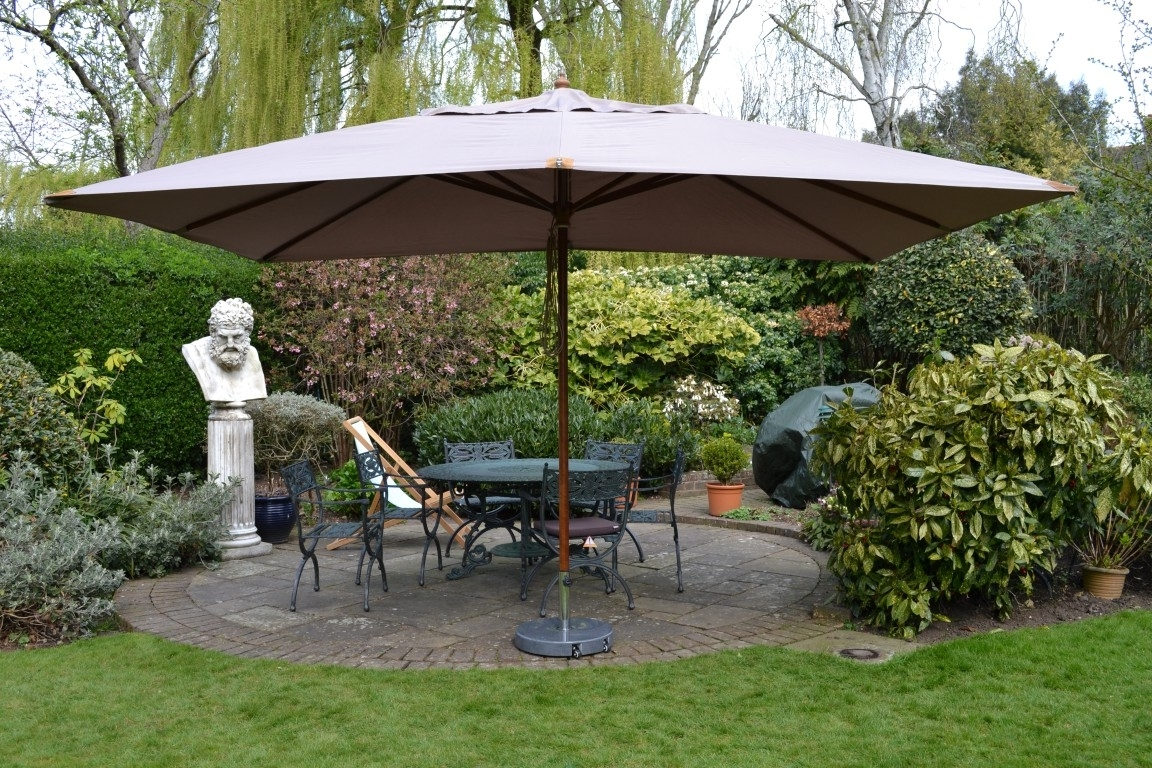 Giant Patio Umbrellas Pertaining To Famous Extra Large Patio Umbrella For Restaurant : Kimberly Porch And (View 10 of 20)