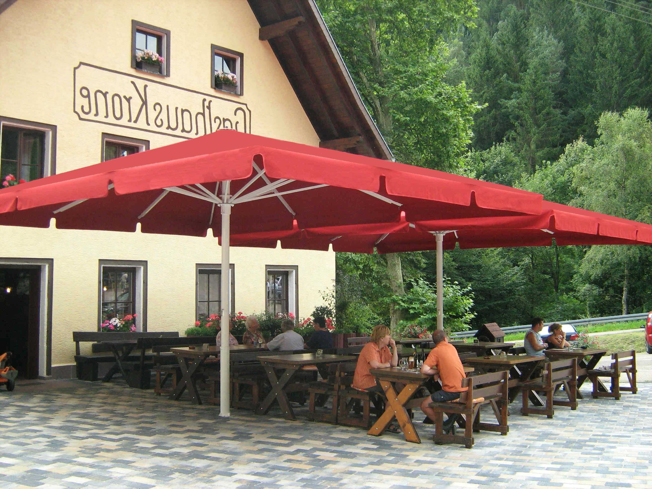Giant Patio Umbrellas Pertaining To Popular Large Square Umbrella Tsb Gz Ideas And Outstanding Extra For Patio (View 19 of 20)