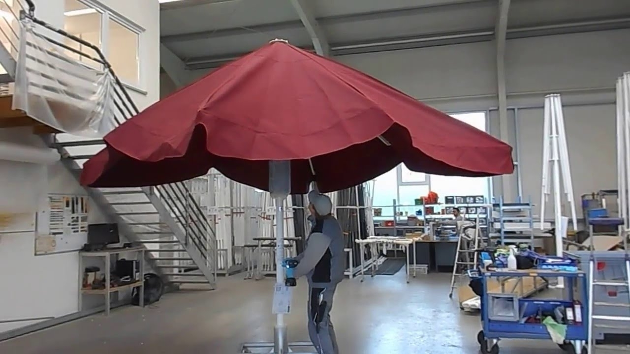 Giant Patio Umbrellas With 2019 How To Open A Square Giant Patio Umbrella – Youtube (Gallery 14 of 20)