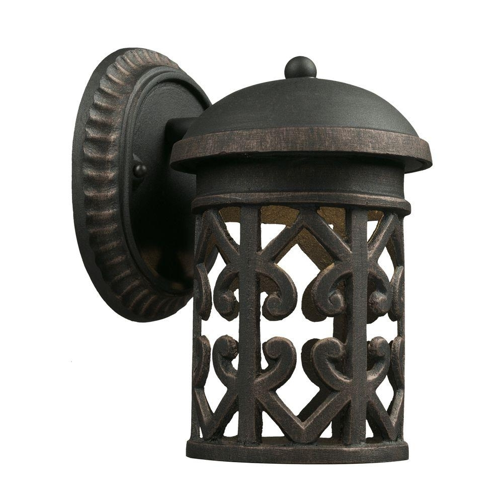 Gold Coast Outdoor Lanterns Intended For Trendy Titan Lighting Tuscany Coast 1 Light Brass And Gold Outdoor Sconce (Gallery 1 of 20)