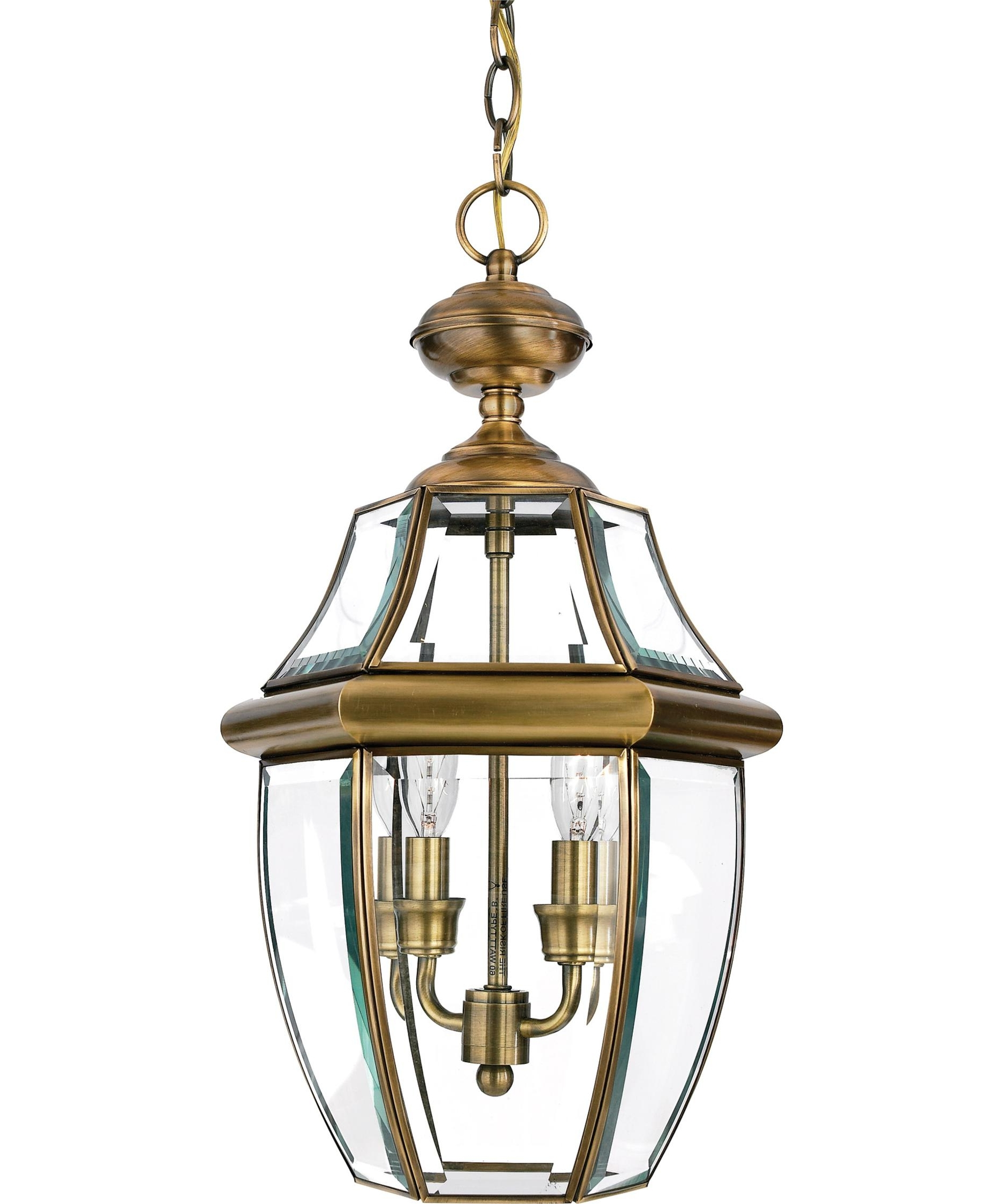 Gold Outdoor Lanterns Intended For Famous Quoizel Ny1178 Newbury 10 Inch Wide 2 Light Outdoor Hanging Lantern (View 7 of 20)