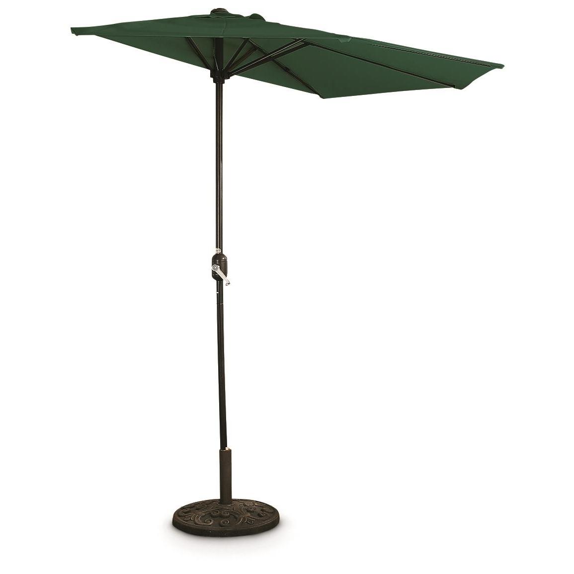 Green Patio Umbrellas In Favorite Castlecreek 8' Half Round Patio Umbrella – 235556, Patio Umbrellas (View 8 of 20)