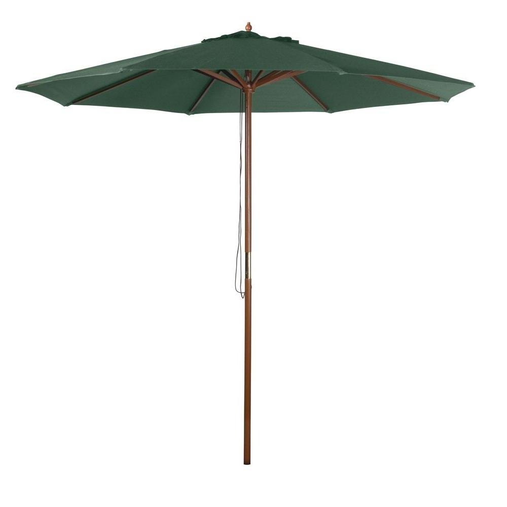 Green Patio Umbrellas Inside Trendy 9 Ft (View 2 of 20)