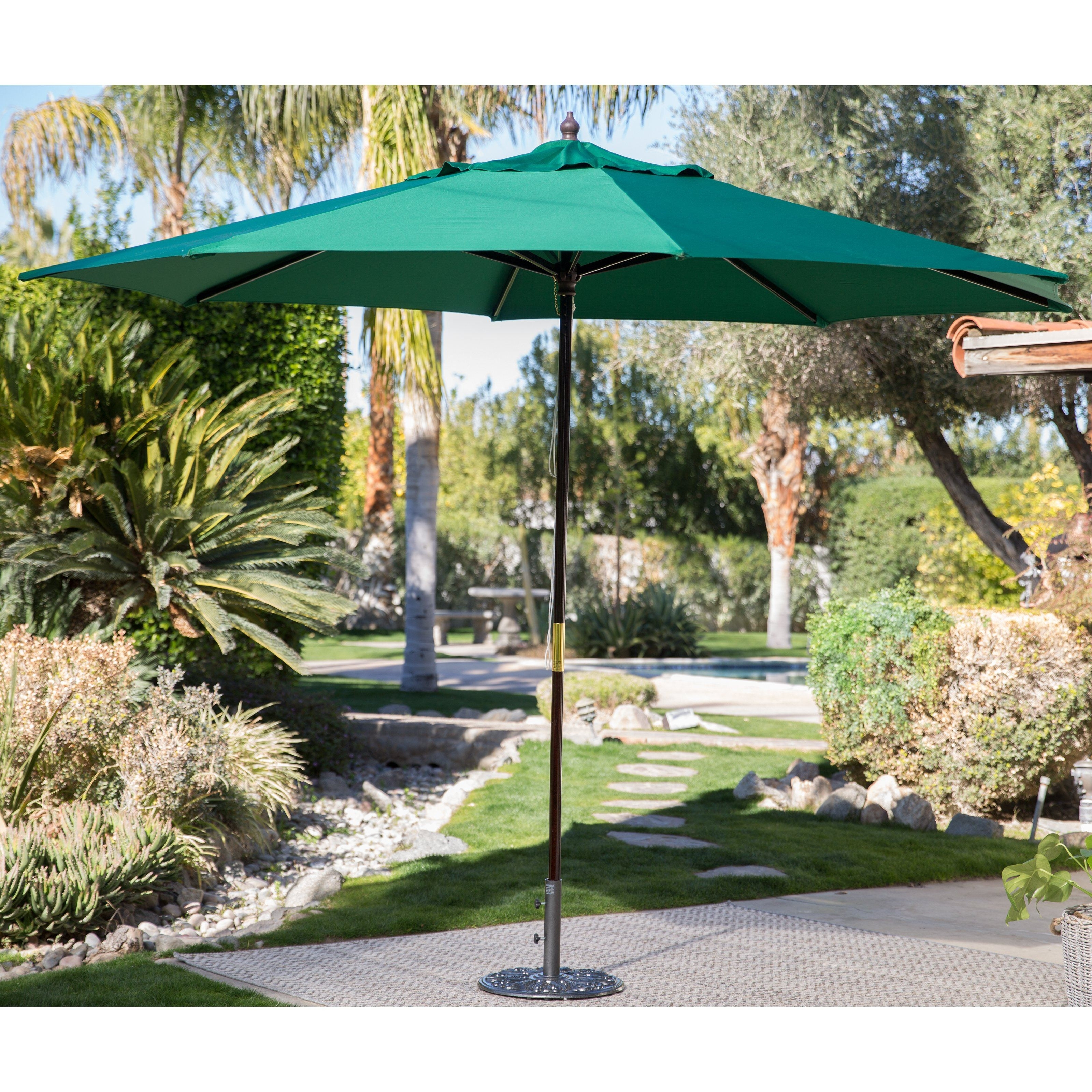 Green Patio Umbrellas Throughout Famous Coral Coast 8 X 11 Ft (View 14 of 20)