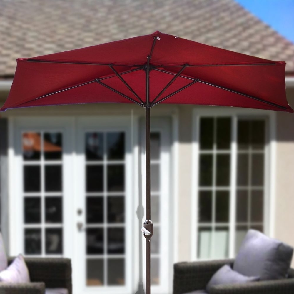 Half Patio Umbrellas With Popular Furniture: Costco Cantilever Umbrella For Most Dramatic Shade (Gallery 9 of 20)