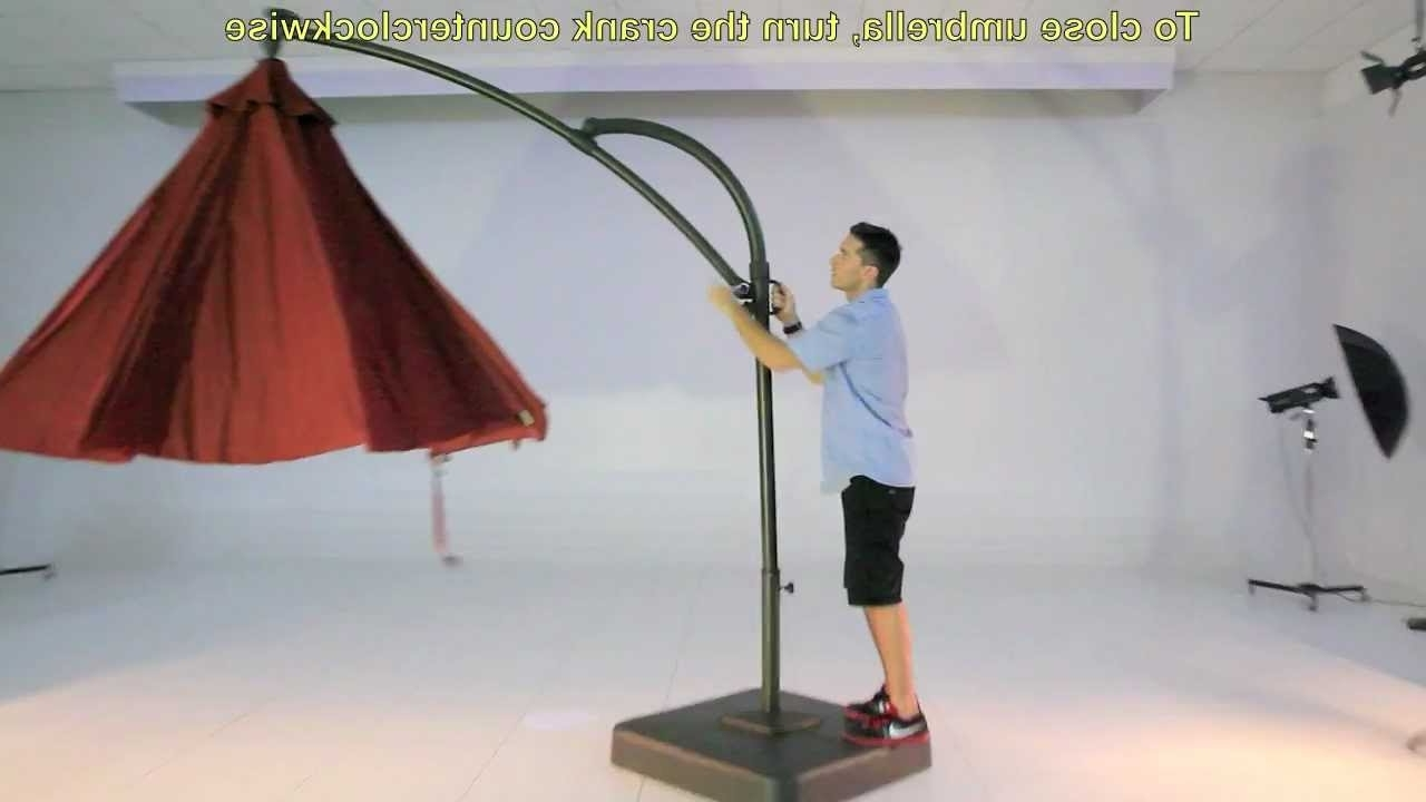 Hampton Bay Offset Patio Umbrellas In Favorite Kohls (View 6 of 20)