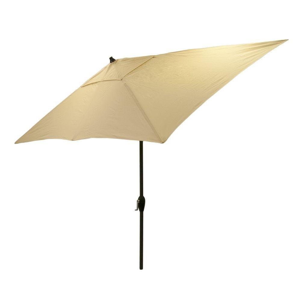 Hampton Bay Patio Umbrellas Inside Best And Newest Hampton Bay 10 Ft. X 6 Ft (View 16 of 20)