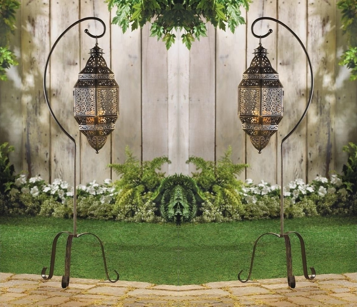Hanging Moroccan Lantern Glass Outdoor Candle Holder – Outdoor Designs For Well Known Moroccan Outdoor Electric Lanterns (Gallery 16 of 20)