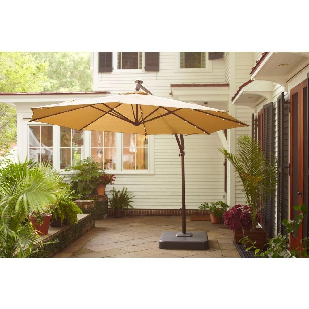 Hanging Offset Patio Umbrellas Pertaining To Current Picturesque Offset Patio Umbrella Commercial Wood Aluminum Torino (View 20 of 20)