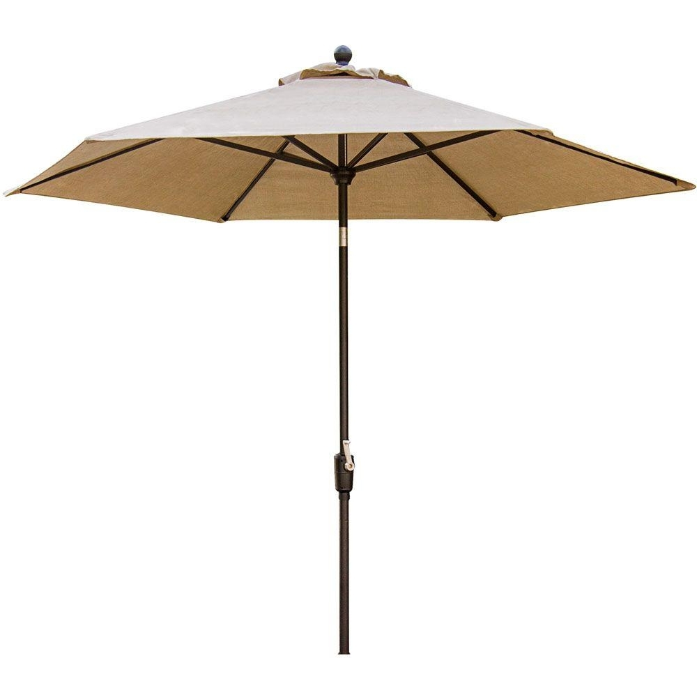 Hanover Traditions 11 Ft. Aluminum Tilt Patio Umbrella In Natural Throughout Well Liked 11 Ft Patio Umbrellas (Gallery 18 of 20)