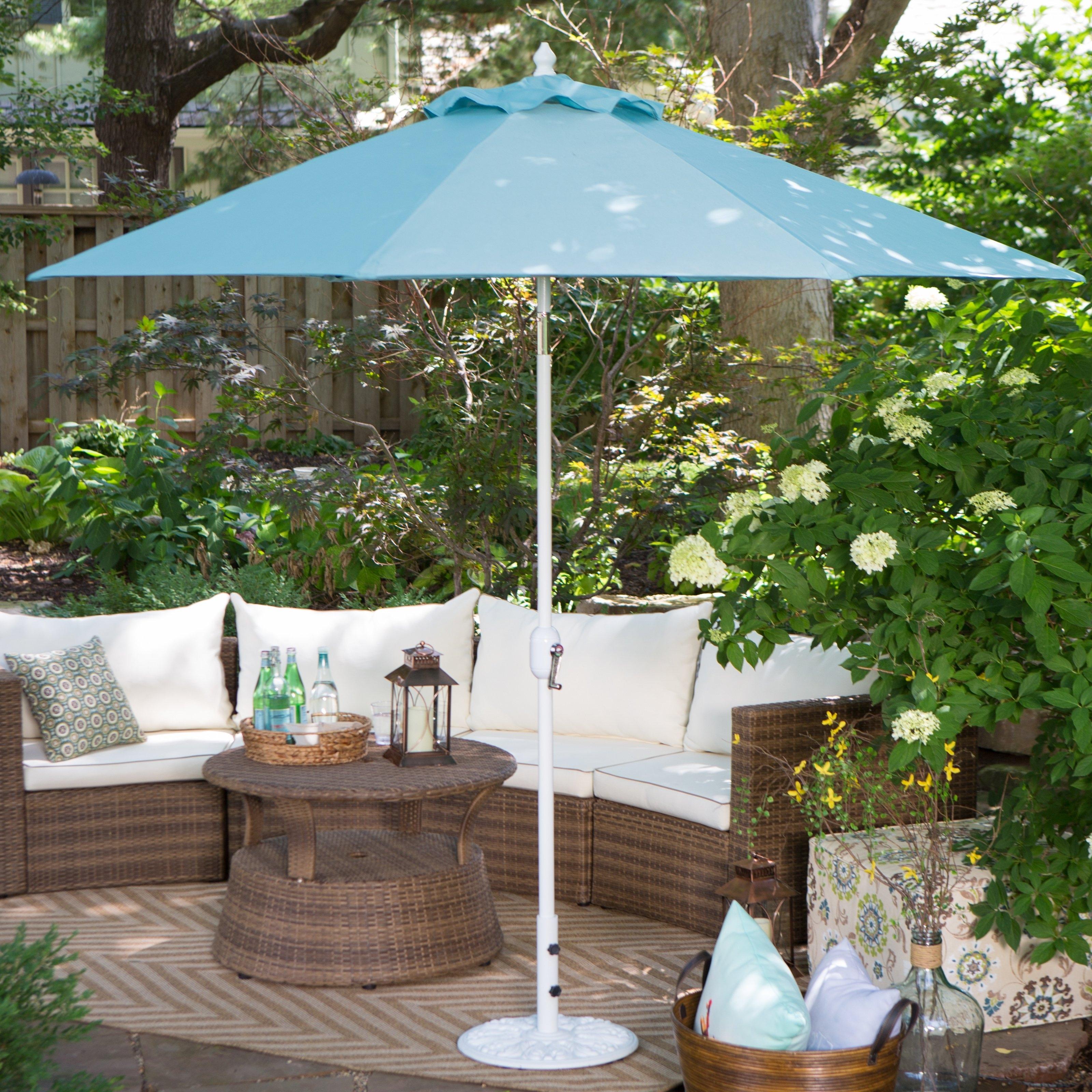 Hayneedle In Widely Used Sunbrella Outdoor Patio Umbrellas (View 19 of 20)