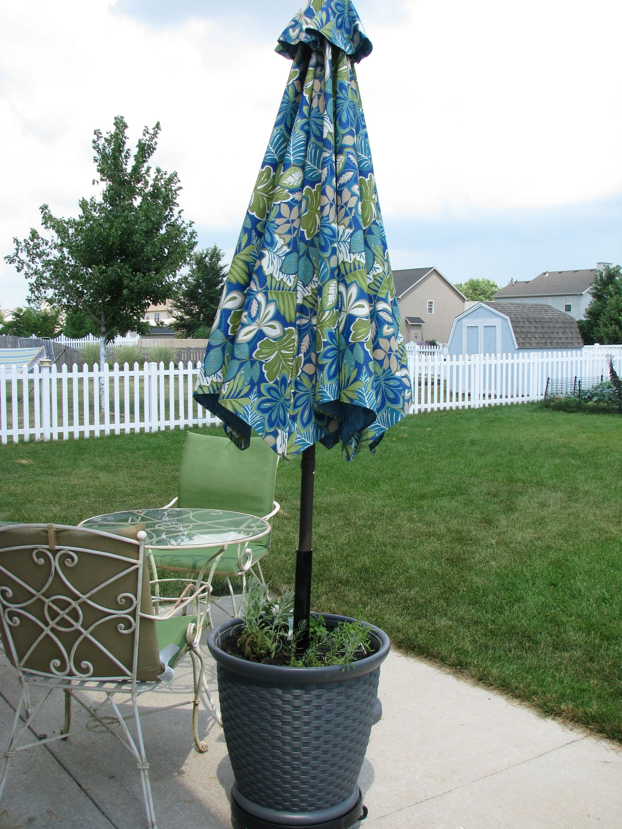"""Heavy Duty Patio Umbrellas For Widely Used Diy Heavy Duty Patio Umbrella """"stand"""" Needed A Heavy Duty Patio (View 6 of 20)"""