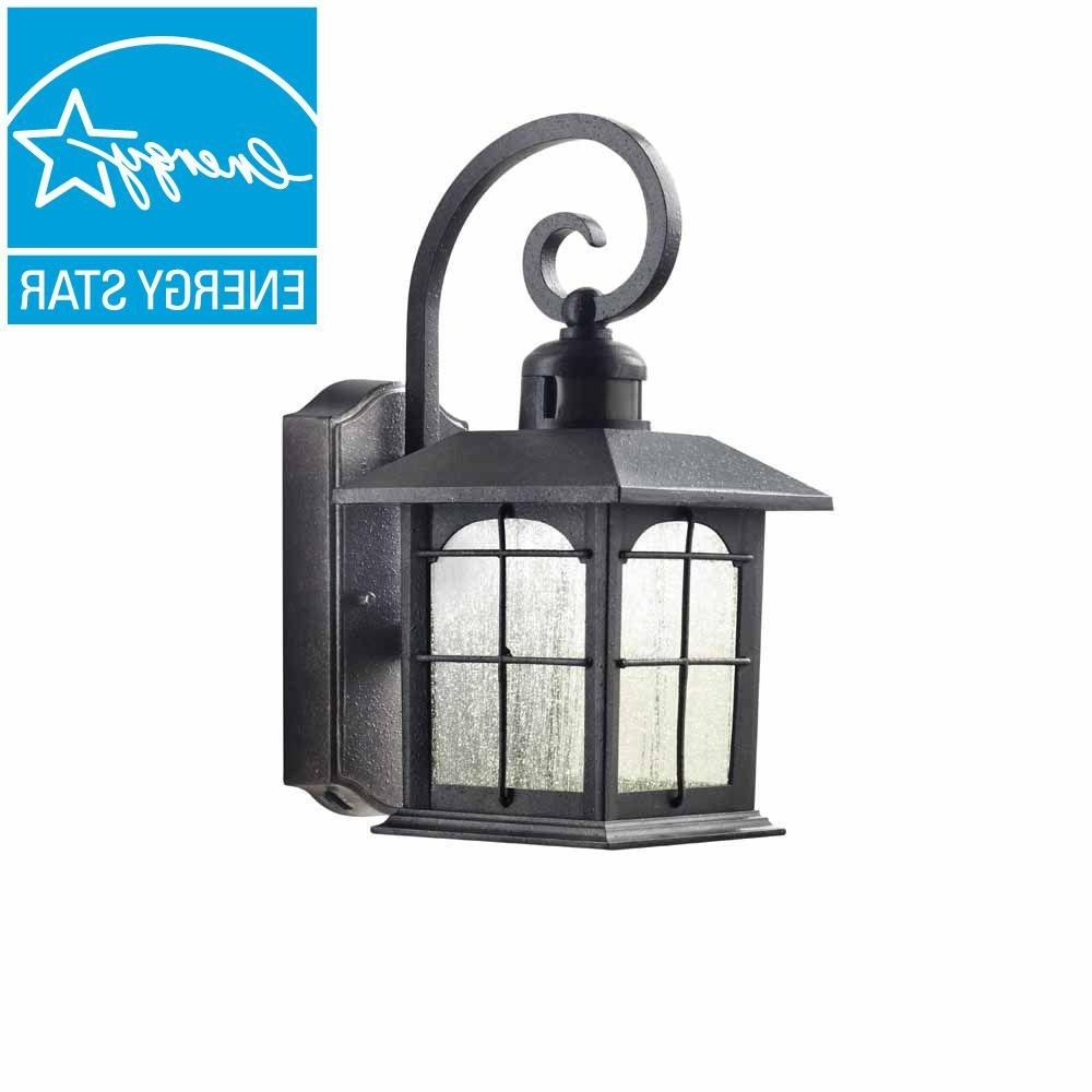 Home Decorators Collection Aged Iron Motion Sensing Outdoor Led Wall In Most Recently Released Outdoor Motion Lanterns (Gallery 1 of 20)