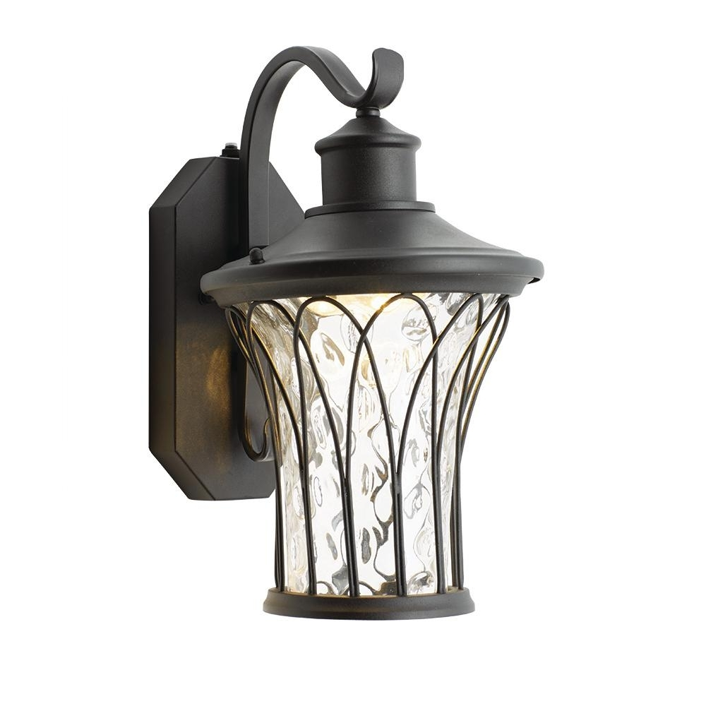 Home Decorators Collection Black Medium Outdoor Led Dusk To Dawn In Fashionable Outdoor Lanterns With Led Lights (Gallery 16 of 20)